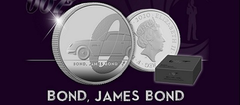 Bond, James Bond stříbrná mince 1/2 oz Proof