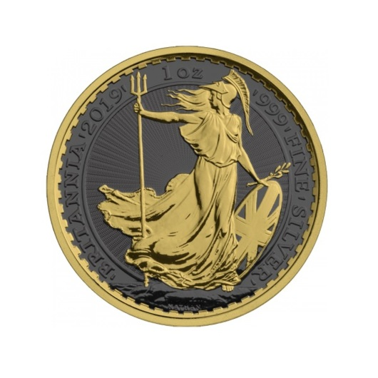 Britannia 2019 stříbrná mince Golden Ring 1 oz