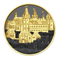 Wiener Neustadt stříbrná mince 1 oz Golden Ring Ruthenium