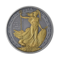 Britannia 2019 stříbrná mince Goldplated Antique