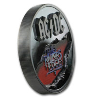 AC/DC - The Razors Edge stříbrná mince 2 oz Black Proof