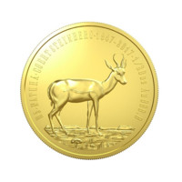 Springbok zlatá mince 1\/20 oz proof