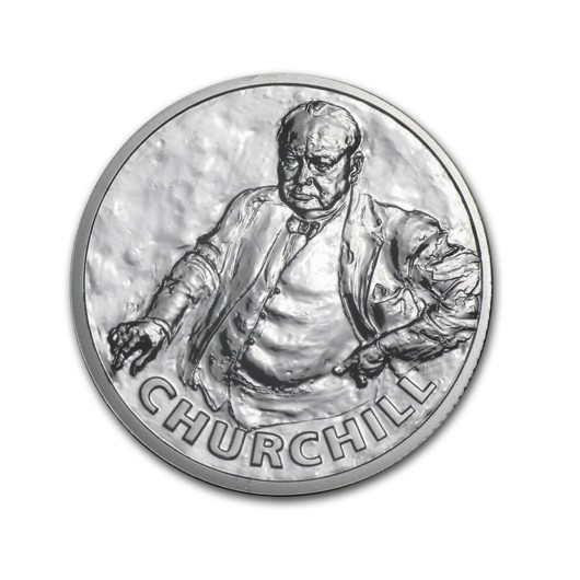 Sir Winston Churchill stříbrná mince 1\/2 oz