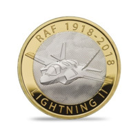 100 let RAF Lightning II stříbrná mince proof