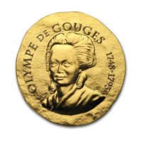 Olympe de Gouges zlatá mince 1/4 oz proof