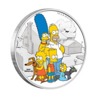 Simpsonovi stříbrná mince 2 oz Proof