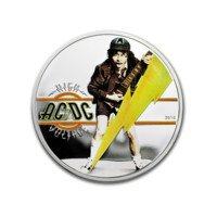 AC/DC - High Voltage stříbrná mince 1/2 Oz Proof