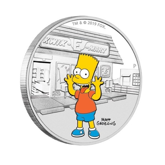 Bart Simpson stříbrná mince 1 oz Proof
