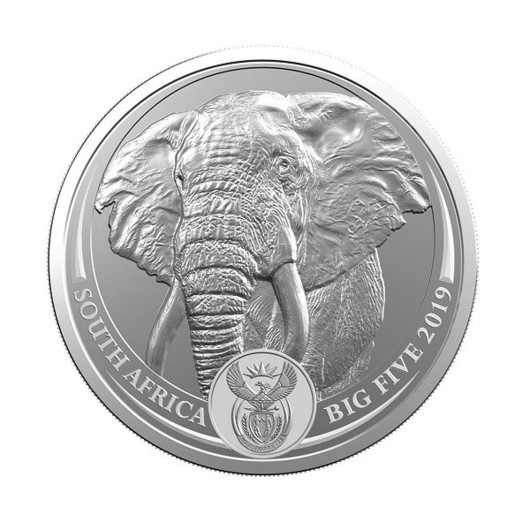Big Five Elephant stříbrná mince 1 oz